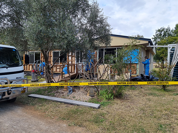 Asbestos removal from house